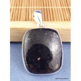 Pendentif argent Nuumite forme carrée Pendentifs pierres naturelles XV21
