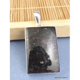 Pendentif argent Nuumite rectangulaire Pendentifs pierres naturelles XV21.1