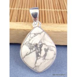 Petit pendentif en Howlite blanche Pendentifs pierres naturelles XV20.2