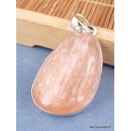 Pendentif Sélénite orange forme asymétrique Pendentifs pierres naturelles XV25.1