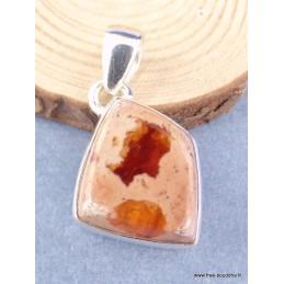 Pendentif Opale de feu sur roche-mère Pendentifs pierres naturelles XV30