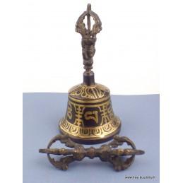 Cloche et dorjé tibétain en bronze 13 cm CD125.1