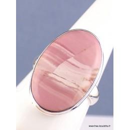 Bague Opale Rose australienne ovale Taille 61 Bijoux en Opales XV55