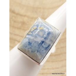 Bague Scheelite bleue rectangulaire Taille 52/53 Bijoux en Scheelite XV63.2