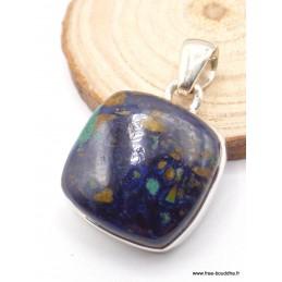 Petit pendentif Azurite Boulder carré Pendentifs pierres naturelles PAC10.3
