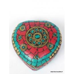 Boîte à bijoux Coeur en pierres BAT80
