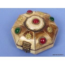 Boîte à bijoux tibétaine en Os de Yak grand modèle BAT81