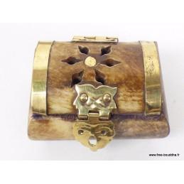 Mini boîte à bijoux en os de yack BAT84