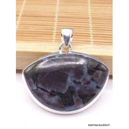 Pendentif semi-oval Merlinite Mystique Gabbro Pendentifs pierres naturelles pac4.1