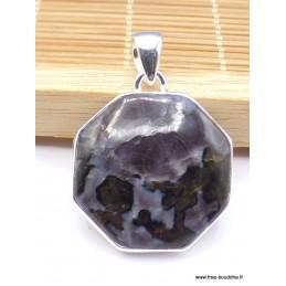 Pendentif Merlinite Mystique Gabbro hexagonale Pendentifs pierres naturelles pac4.3