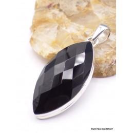 Pendentif marquise en Onyx noir facetté Pendentifs pierres naturelles PAC3.3
