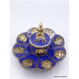 Porte encens tibétain serti de Lapis lazuli PETLAP
