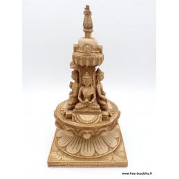 Stupa tibétain portatif en résine naturelle Objets rituels bouddhistes STUPAN5