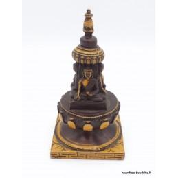 Stupa tibétain de temple en résine patine antique Objets rituels bouddhistes STUPAN6