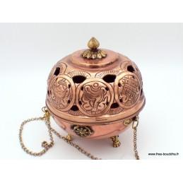 Brûleur d'encens tibétain encensoir boule grand modèle Brûleurs et porte-encens REF 4059.1