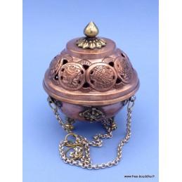 Brûleur d'encens tibétain encensoir boule petit modèle 4059PM