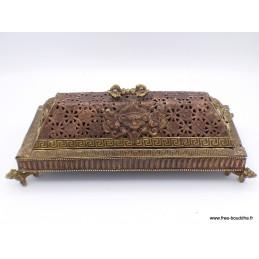 Exclusif et rare brûleur d'encens tibétain vintage 4060