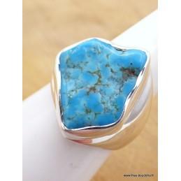 Bague chevalière Turquoise Sleeping Beauty taille 55/56 Bagues pierres naturelles XV71.1