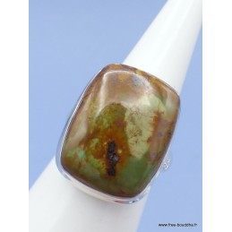 Bague Turquoise Américaine rectangulaire Taille 58/59 Bagues pierres naturelles XV74.1