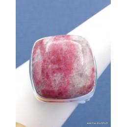 Bague en Thulite rose carrée Taille 62 Bijoux en Thulite XV79.2