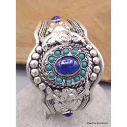Bracelet tibétain Lapis Lazuli et turquoises Bracelets pierres naturelles BRLAT