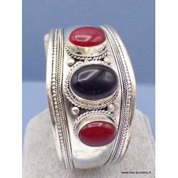 Bracelet tibétain Améthyste Cornaline Bracelets tibétains bouddhistes BRAC91