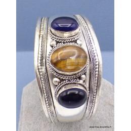 Bracelet tibétain Améthyste Oeil de Tigre Bracelets tibétains bouddhistes BRAC92
