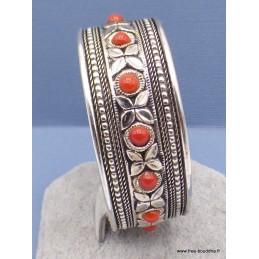 Bracelet tibétain Pierres fantaisie rouges Bracelets tibétains bouddhistes BRAC93