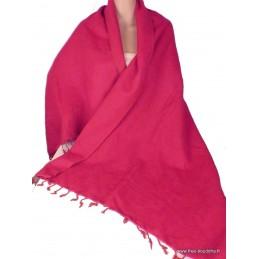 Châle pashmina laine de Yak rouge framboise Nos Châles CPLY97