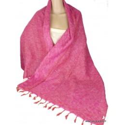 Châle népalais laine de Yak Rose CPLY100