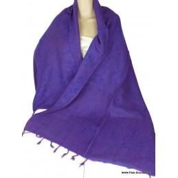 Châle en laine de Yak Violet vert CPLY105