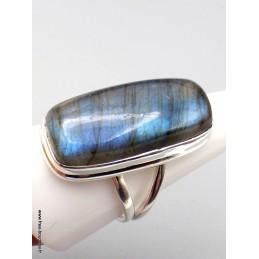 Grosse bague Labradorite bleue taille 61 Bagues pierres naturelles XV87