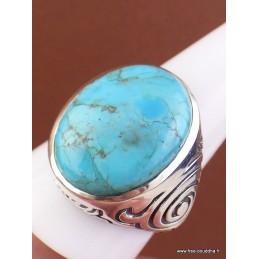 Chevalière pour Homme en Turquoise Mohave plusieurs tailles Bijoux en Turquoise Mohave XV88