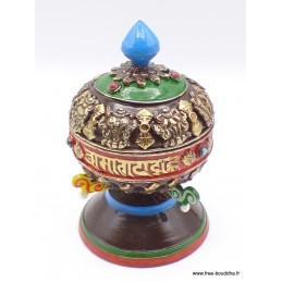 Moulin à prières tibétain de table coloré MAPT11