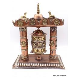 Grand moulin à prières bouddhiste Stupa 25 cm GMAP50