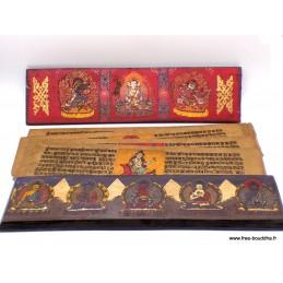 Grand livre de prières bouddhistes 38 cm GLPB1