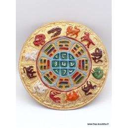 Décoration tibétaine Yi king signes du Zodiaque Décoration tibétaine DEOYK
