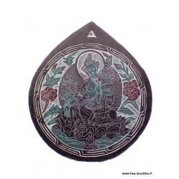 Sculpture bouddhiste sur ardoise Tara Verte SCAR6