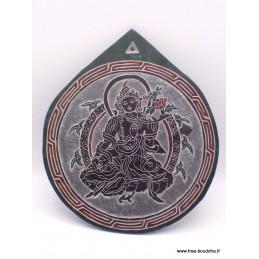 Sculpture bouddhiste sur ardoise tableau Tara SCAR8