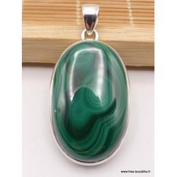 Pendentif bijou Malachite ovale Pendentifs pierres naturelles XV10.4