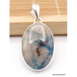 Pendentif Quantum Quattro bleu marron Pendentifs pierres naturelles XV2.6