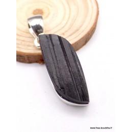 Pendentif forme Larme en Tourmaline noire brute Pendentifs pierres naturelles PAC12.6