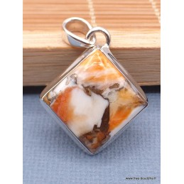 Pendentif Coquille d'huître épineuse losange Pendentifs pierres naturelles XV104.2