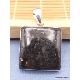 Pendentif Nuumite carrée en argent 925 Pendentifs pierres naturelles XV21.4