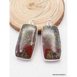 Boucles d'oreilles Jaspe Sang du Dragon Boucles d'oreilles en pierres XV114