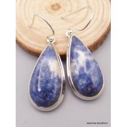 Boucles d'oreilles goutte en Sodalite Boucles d'oreilles en pierres PAC26.2