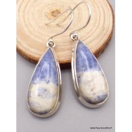 Boucles d'oreilles Sodalite forme goutte Boucles d'oreilles en pierres PAC26