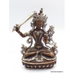 Statuette Manjushri Cuivre et aluminium 16 CM Statuettes Bouddhistes MANCU