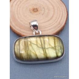 Pendentif rectangulaire Labradorite dorée Pendentifs pierres naturelles XV116