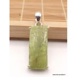 Pendentif Cyanite verte brute bâtonnet Pendentifs pierres naturelles PAC13.2